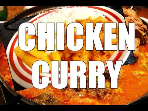 Simple Chicken Curry with rice | how to make simple curry chicken !!