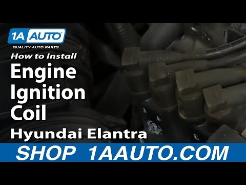 How To Install Replace Engine Ignition Coil 2003-06 Hyundai Elantra 2.0L