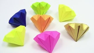 How to Make a Paper Diamond Origami easy simple - Yakomoga Origami