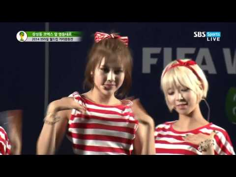 Live HD | 140623 AOA - Confused & Short Hair @ SBS World Cup Cheering