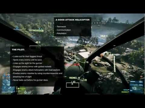 BF3 - Attack Helicopter Tutorial #2: Countermeasures & Attacking