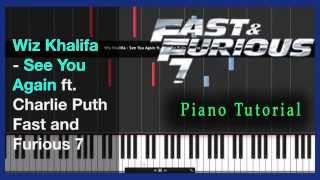 download lagu Wiz Khalifa - See You Again - Piano Tutorial gratis