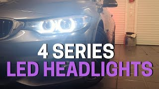 2019 BMW 4 Series LED HEADLIGHTS   Exterior REVIEW (1080p) HD