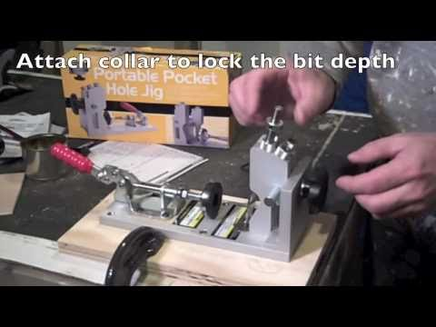 how to use harbor freight dowel jig