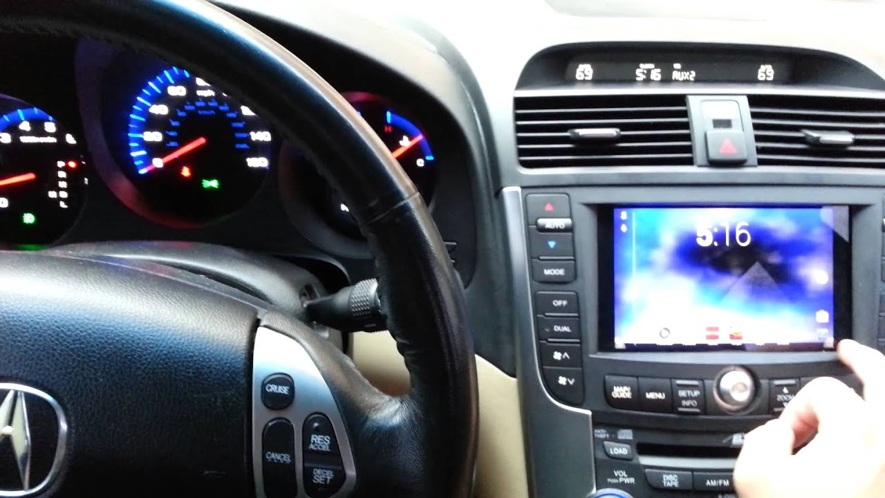Acura Tl With Nexus 7 In Dash Youtube