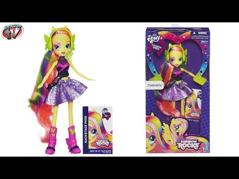 My Little Pony Equestria Girls: Rainbow Rocks Fluttershy Doll Toy Review. Hasbro