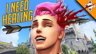 Overwatch Funny & Epic Moments 133 - ZARYA NEEDS HEALING! - Highlights Montage