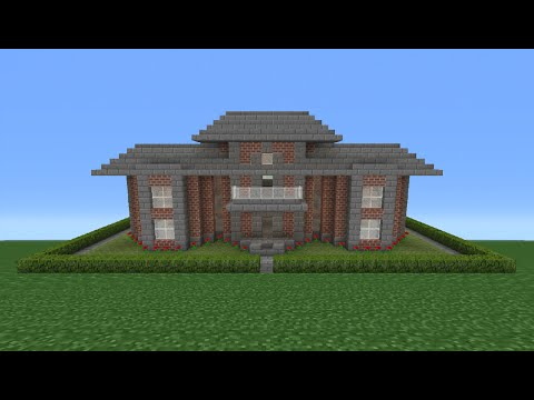 Minecraft Tutorial: How To Make A Miniature Brick House