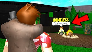 I Paid A Homeless Kid and He Grew Up A MILLIONAIRE.. (Roblox)