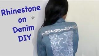 Rhinestone on Denim DIY Jacket - KatSelina