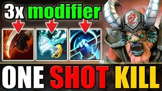 One Shot Tidebringer with Double Buff [Bloodrage + Empower] Dota 2 Ability Draft