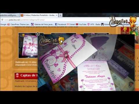 Tarjetas de 15 a os invitaciones de cumplea os youtube - Como hacer tarjetas de cumpleanos ...