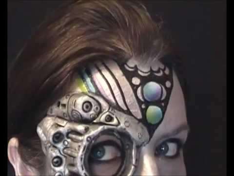 Cyborg Face Makeup Cyborg Fantasy Make up Face