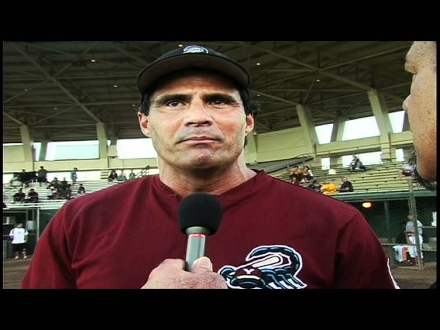 Jose Canseco - Manager of the Yuma Scorpions Baseball Team