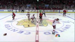 Brandon Bollig vs Paul Bissonnette fight. Phoenix Coyotes vs Chicago Blackhawks 4/19/12 NHL Hockey