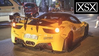Ferrari 458 Italia Liberty Walk w/ Fi Race Exhaust Start-Up, Revvings & LOUD Sound | XSX