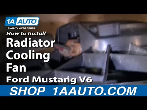 How To Install Replace Radiator Cooling Fan Ford Mustang V6 98-00 1AAuto.com