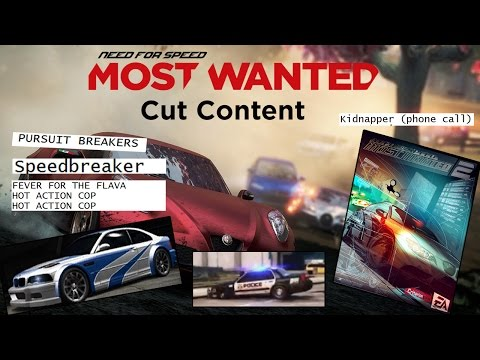 Need For Speed Most Wanted 2012 - Cut Content & Concepts