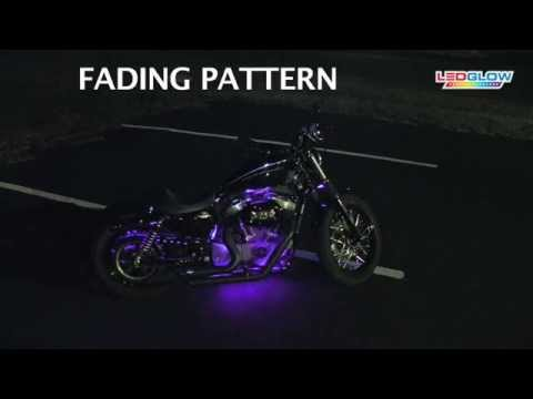Purple LED Flexible Motorcycle Lighting Kit