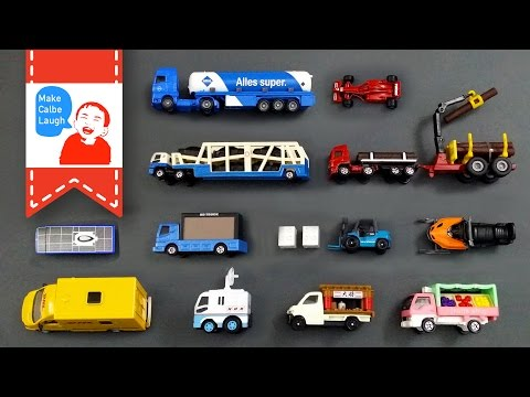 Learning Special Street Vehicles Names and Sounds and more for kids with tomica 2015 siku lego