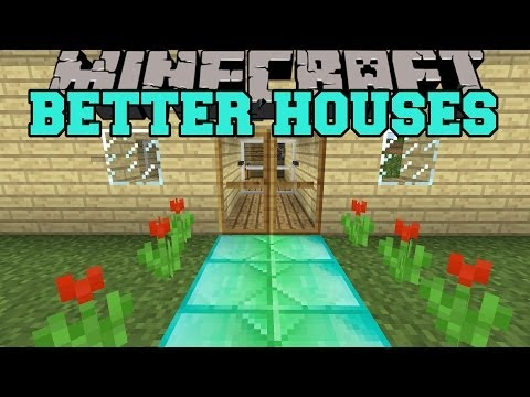 Minecraft: BETTER HOUSES (SECRET ROOMS. ANIMATED DOOR. BLOCK MIXER) Mod Showcase