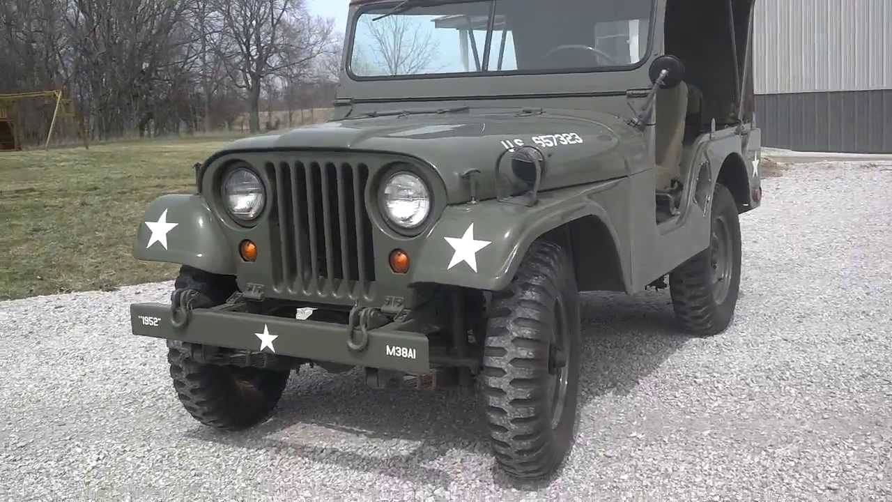 Military Vehicles For Sale >> 1952 M38A1 Army Jeep - YouTube