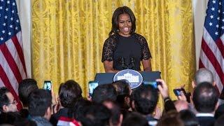 مهمانی نوروزی کاخ سفید به میزبانی میشل اوباما و تبریک نوروز به زبان فارسی