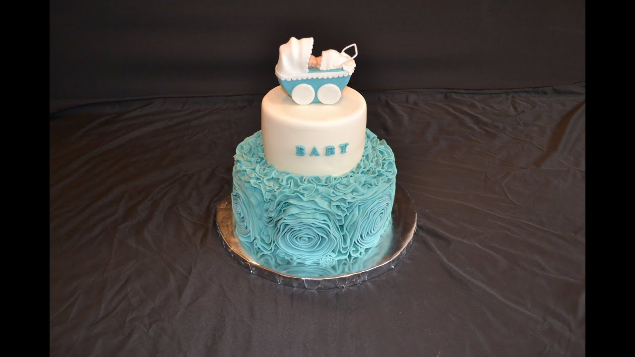 Making Cake Using Fondant : How to decorate a cake with fondant rosets or ribbon roses ...