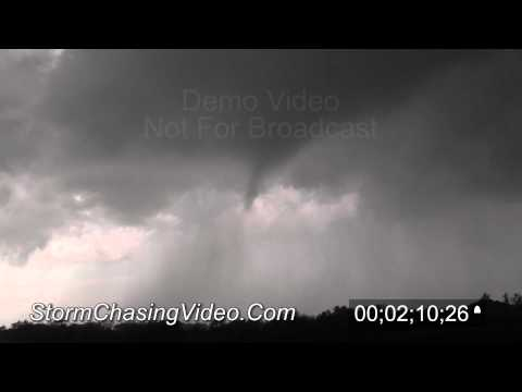 4/14/2012 Tornado near Rush Center, KS, stock footage