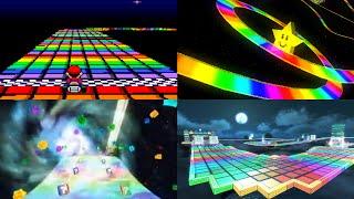 Evolution of Mario Kart's Rainbow Road