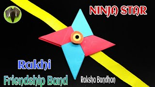 Ninja Star Blade Rakhi | Friendship Band  - Raksha Bandhan| DIY | Tutorial | Origami | राखी - 768