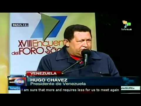 Hugo Chavez thanks Lula da Silva for his support