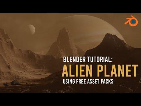 Create An Alien Landscape In 5 Minutes - Blender 2.8 Tutorial