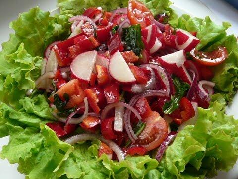 """Постный салат """"ВИТАМИННЫЙ"""". Салаты рецепты быстрого приготовления.Salad"""
