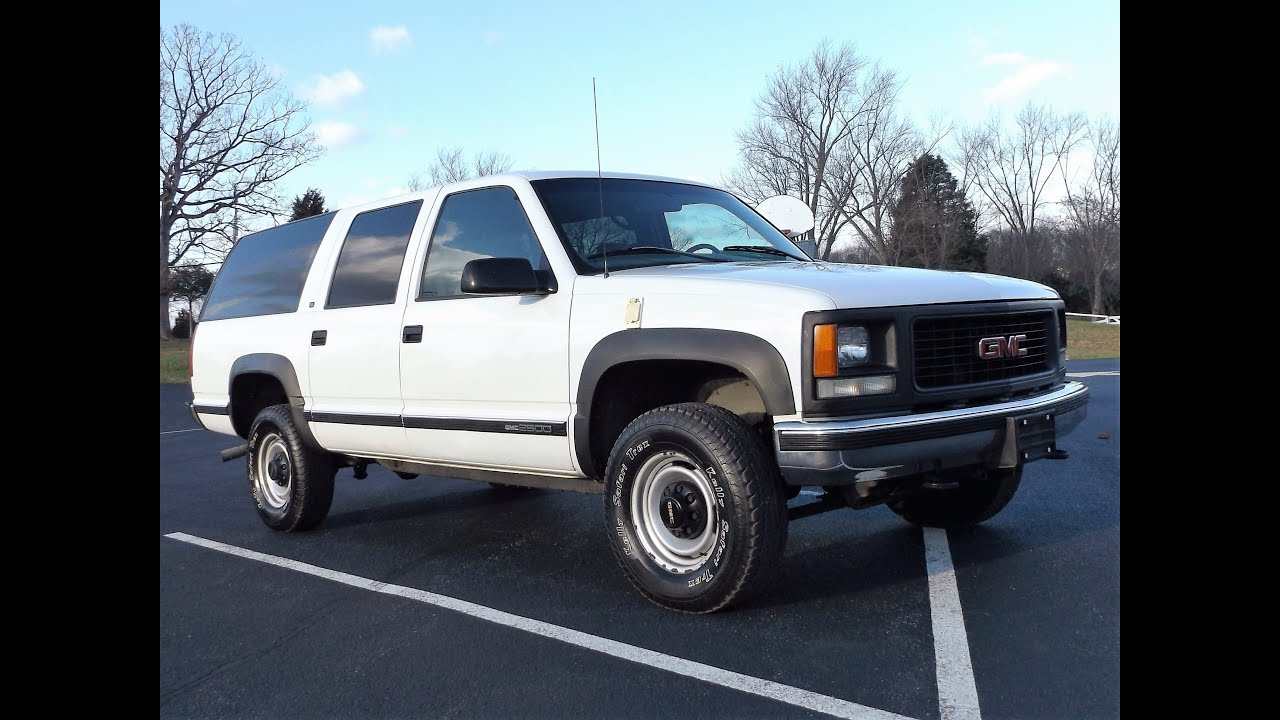1998 gmc suburban 2500 4x4 7 4l 454 vortec 1 owner 68k quick look youtube