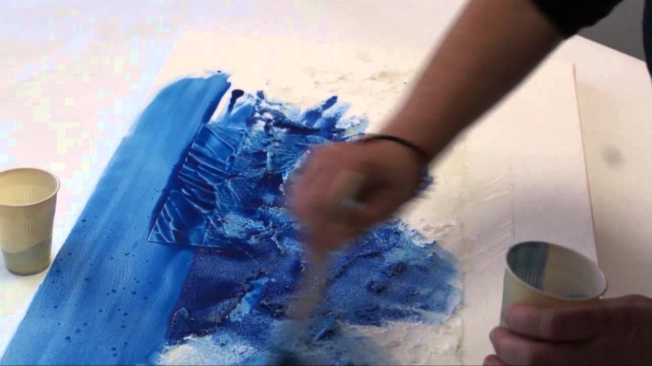 Diy mixed media nuances bleues youtube - Nuances de bleu peinture ...