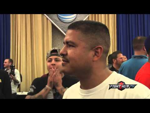 Mayweather vs Maidana Robert Garcia scrum Maidana game plan