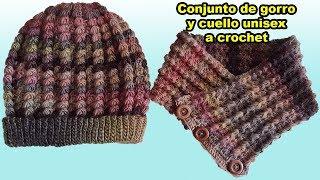 cuello a crochet para mujer y hombre - tutorial - tejido - ganchillo