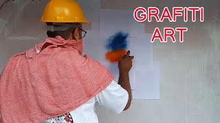 grafiti drawing for beginners using stencil
