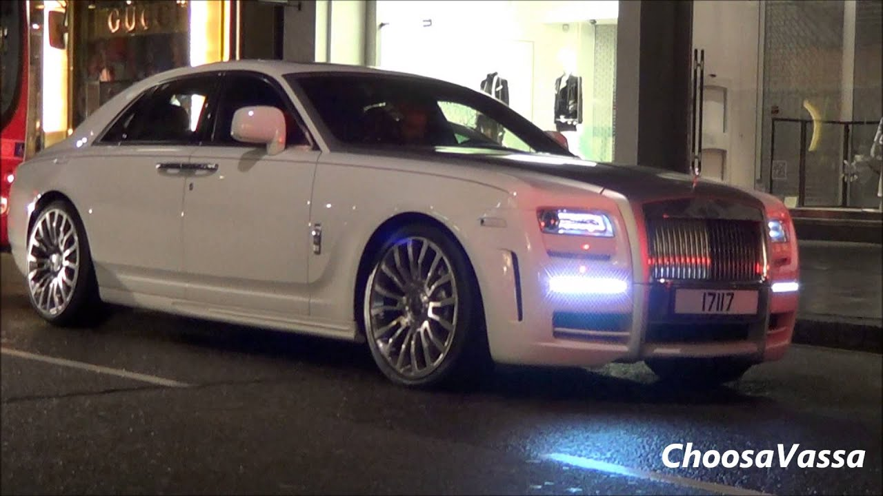 Mansory Rolls Royce Ghost Limited White Driving Scenes