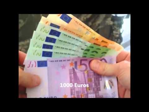 Money Euro visualization 500€ / 1000€