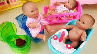 Baby Doll babysitter and refrigerator Kinder Joy toys