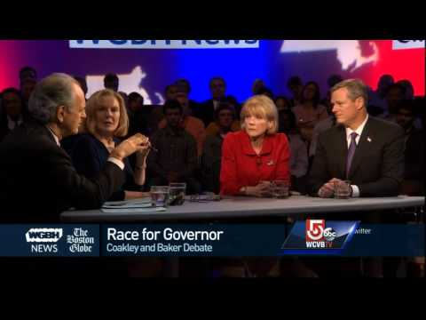 Coakley, Baker meet head-to-head in debate
