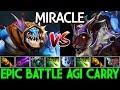 Miracle  Slark VS Pro Luna IO Tier Master   Epic Battle Agi Carry 7.21 Dota 2