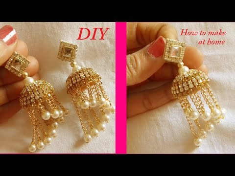 DIY || How to make designer silk thread bridal jhumka earring at home || Handmade tutorial