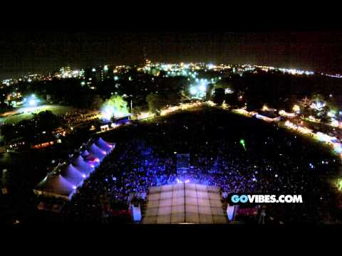 Aerial view of Dark Star Orchestra at Gathering of the Vibes Thursday July 31, 2014