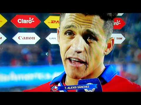 Entrevista Alexis Sanchez post Chile Uruguay