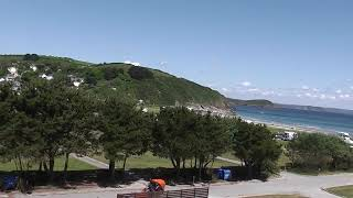 Pentewan early season caravans and motorhomes