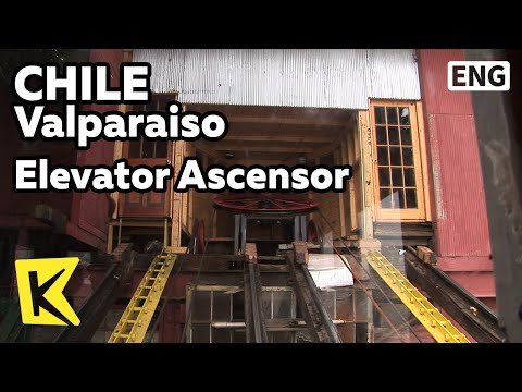 【K】Chile Travel-Valparaiso[칠레 여행-발파라이소]100년 된 엘리베이터 아센소르/Elevator Ascensor/Cable Car/Lift