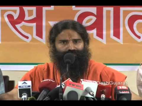 Ramdev Baba's joshdaar media briefing, interaction with media in Narendra Modi's Gujarat